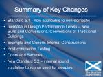 summary of key changes