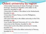 oldest university by region