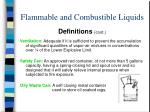 flammable and combustible liquids14