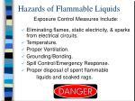 hazards of flammable liquids