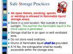 safe s torage practices