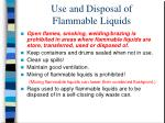 use and disposal of flammable liquids