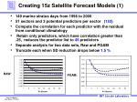 creating 15z satellite forecast models 1