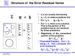 structure of the error residual vector