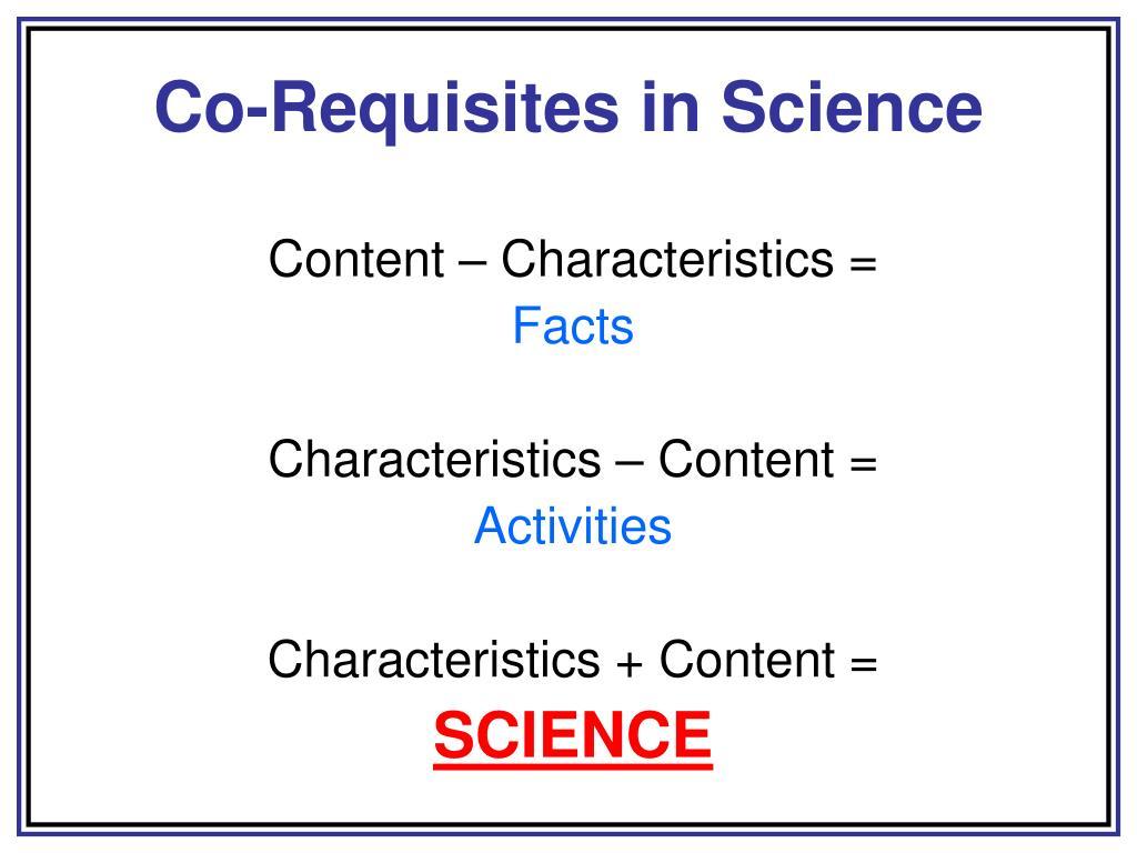 Co-Requisites in Science