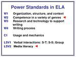 power standards in ela40
