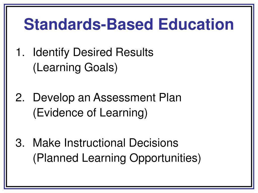 Standards-Based Education