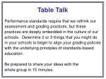 table talk55