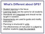 what s different about gps