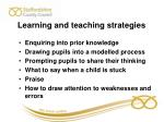 learning and teaching strategies