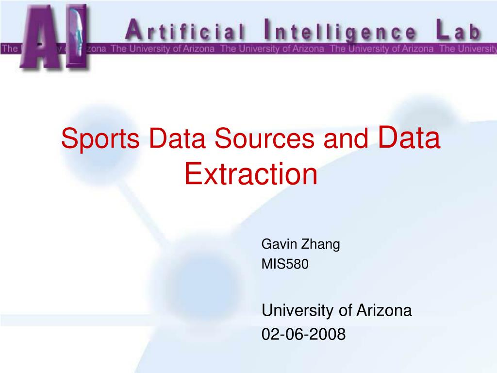 sports data sources and d ata e xtraction l.