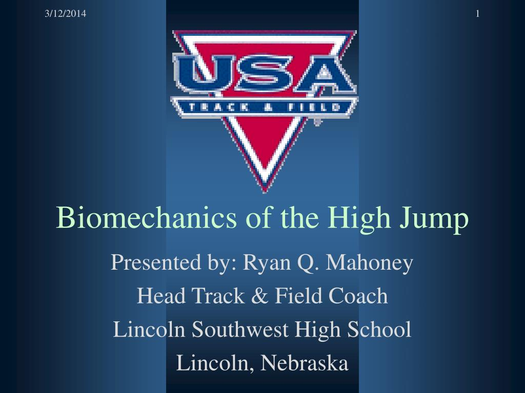 biomechanics of the high jump l.