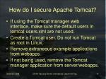 how do i secure apache tomcat