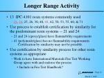longer range activity