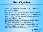 plan objectives