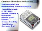 combustible gas indicators
