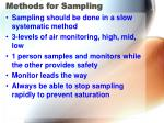methods for sampling