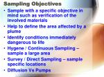 sampling objectives
