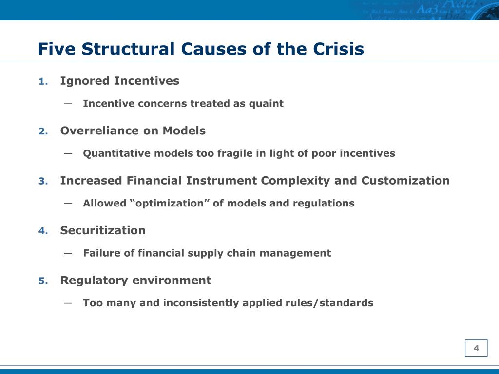 Five Structural Causes of the Crisis