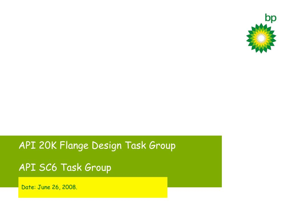 api 20k flange design task group api sc6 task group l.
