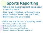 sports reporting