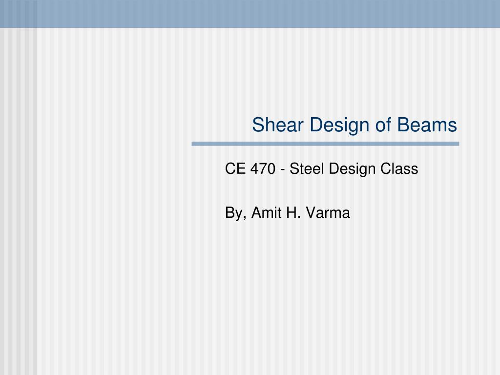 shear design of beams l.