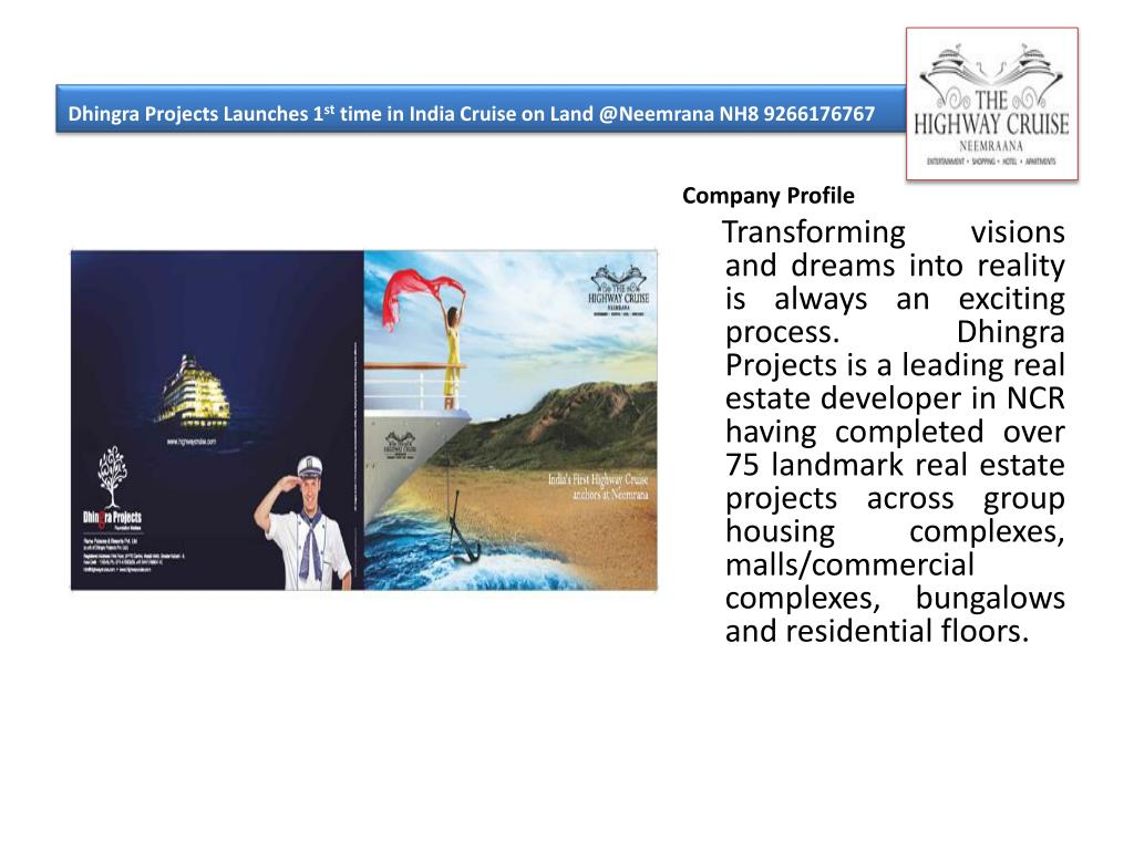 dhingra projects launches 1 st time in india cruise on land @ neemrana nh8 9266176767 l.