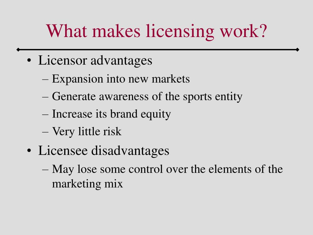 What makes licensing work?