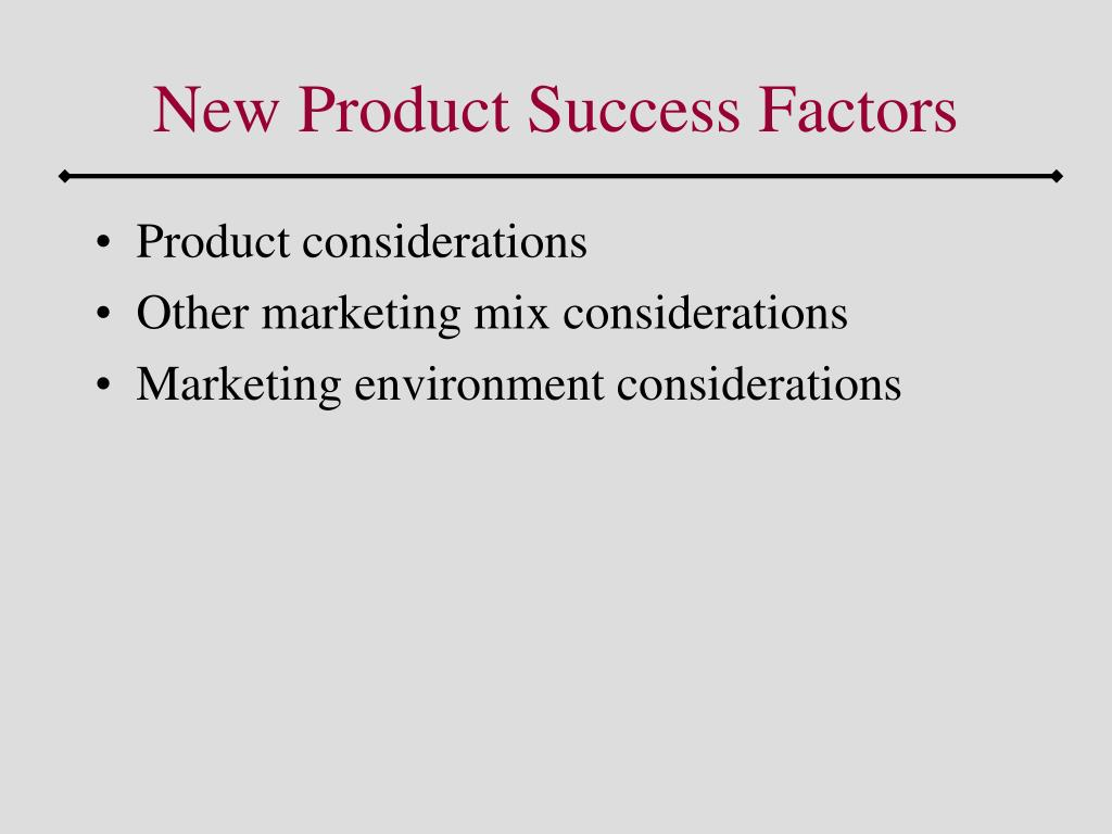 New Product Success Factors