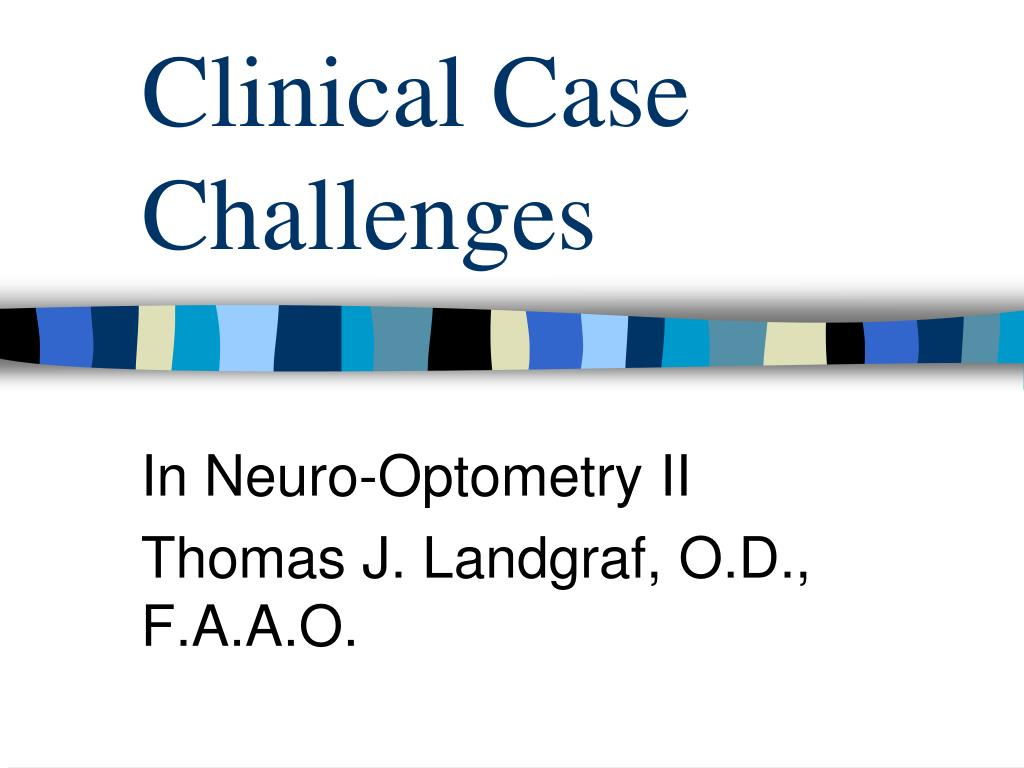 clinical case challenges l.