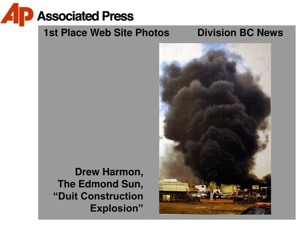 1st Place Web Site Photos          Division BC News