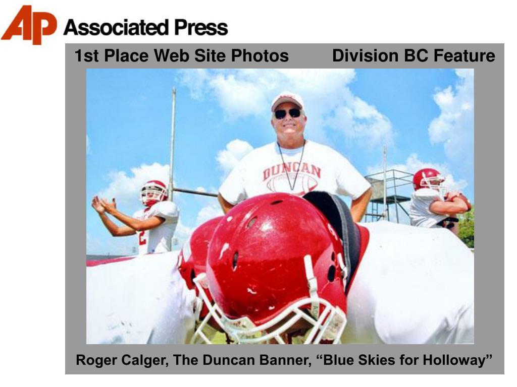 1st Place Web Site Photos         Division BC Feature