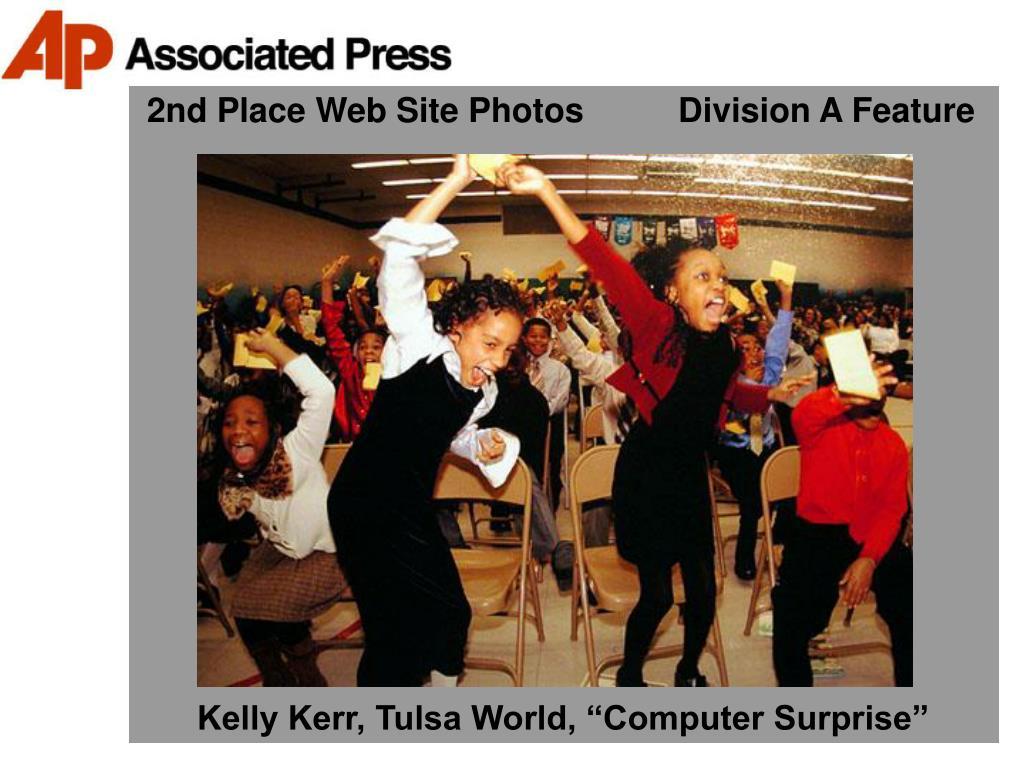 2nd Place Web Site Photos          Division A Feature