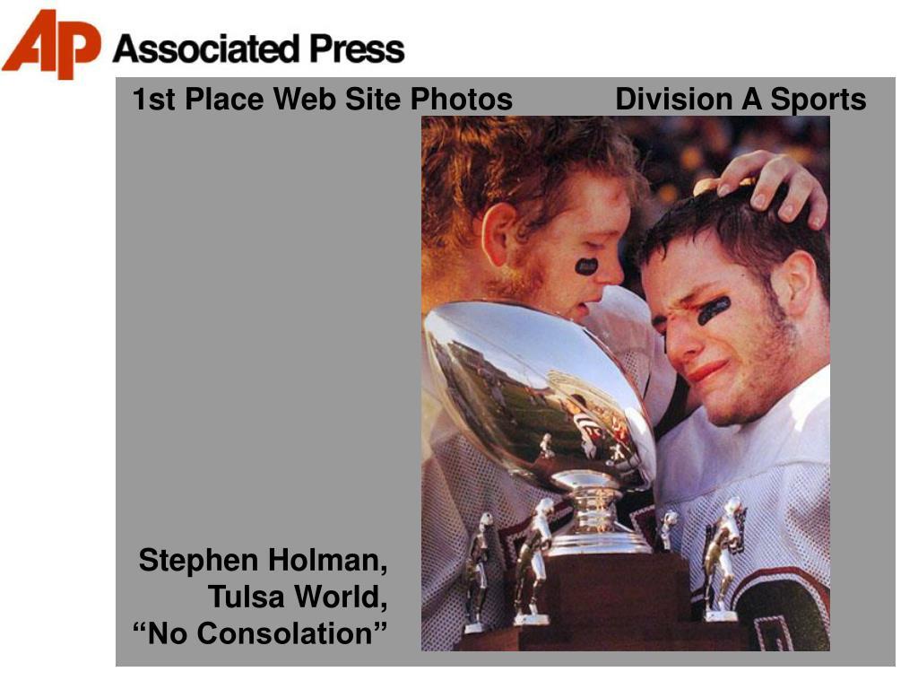 1st Place Web Site Photos            Division A Sports
