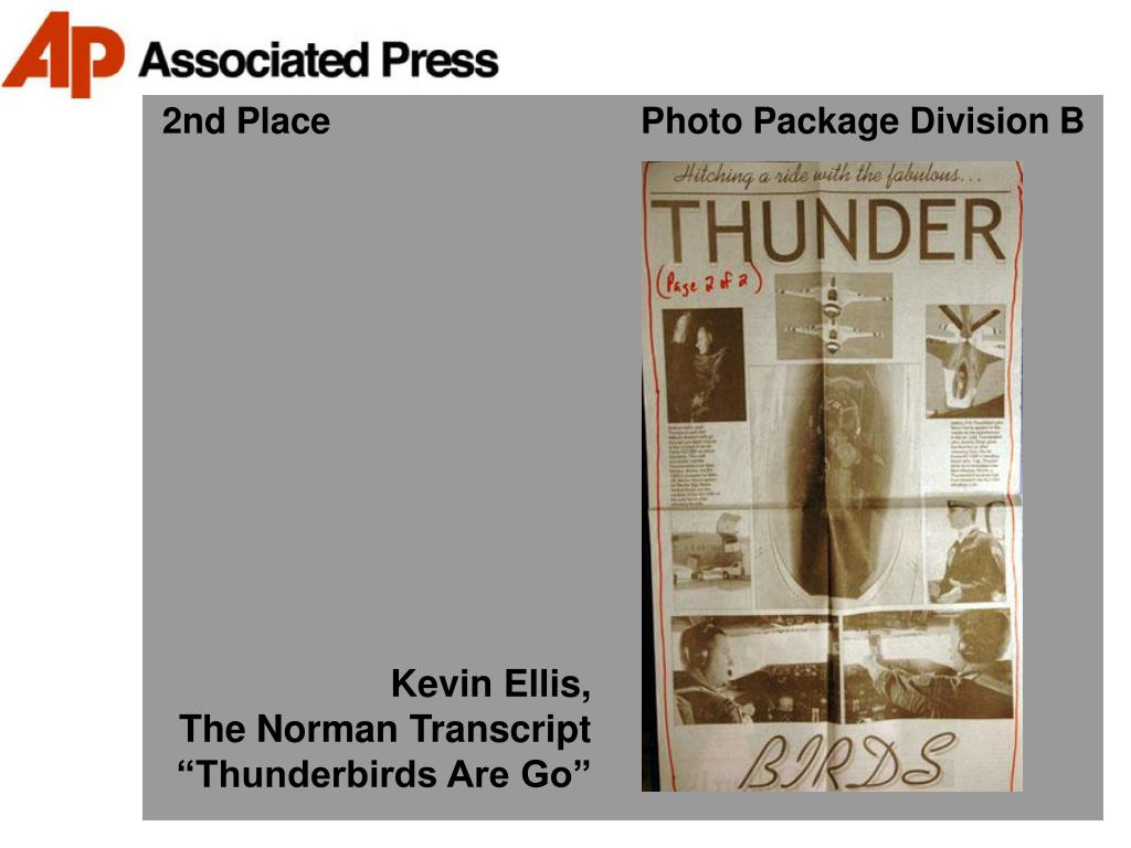 2nd Place                               Photo Package Division B