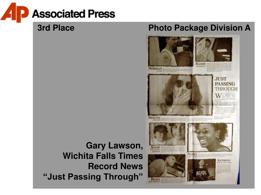 3rd Place                                Photo Package Division A