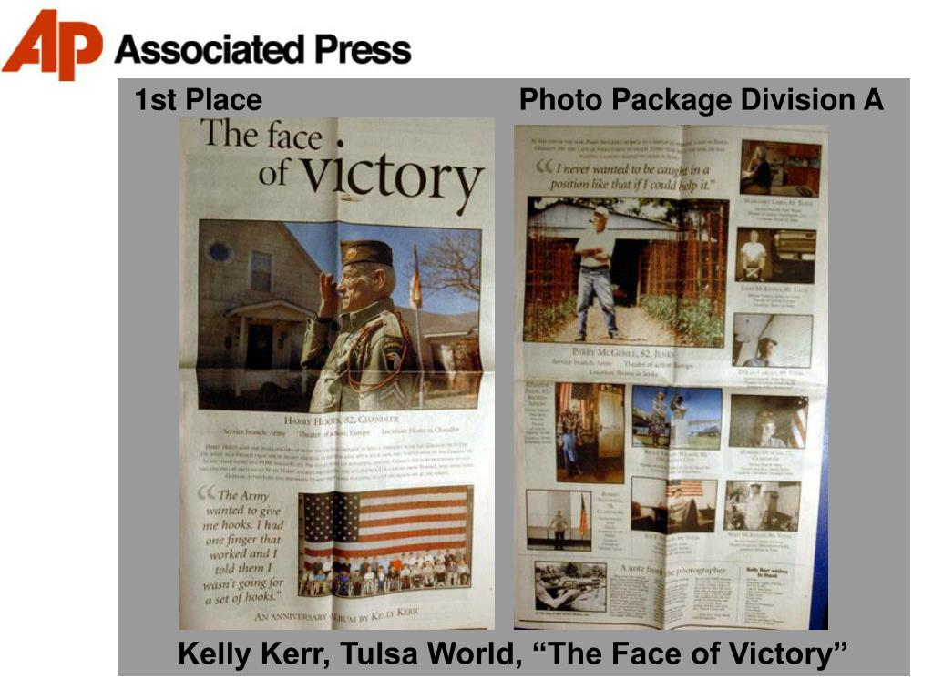 1st Place                               Photo Package Division A