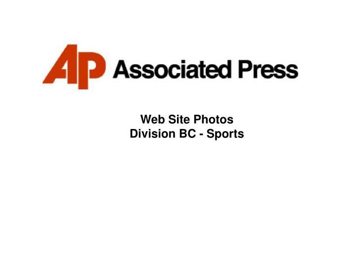 Web site photos division bc sports