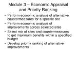 module 3 economic appraisal and priority ranking