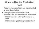 when to use the evaluation tool