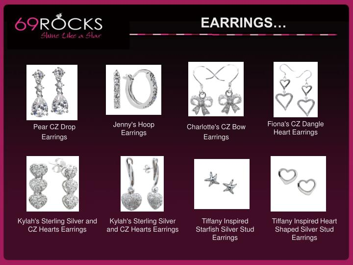 Fiona's CZ Dangle Heart Earrings