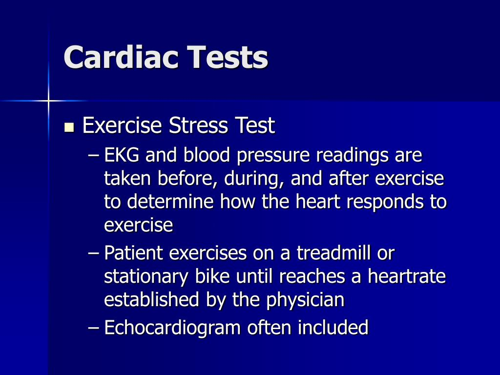 Cardiac Tests