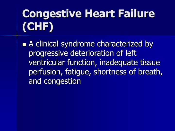 Congestive heart failure chf