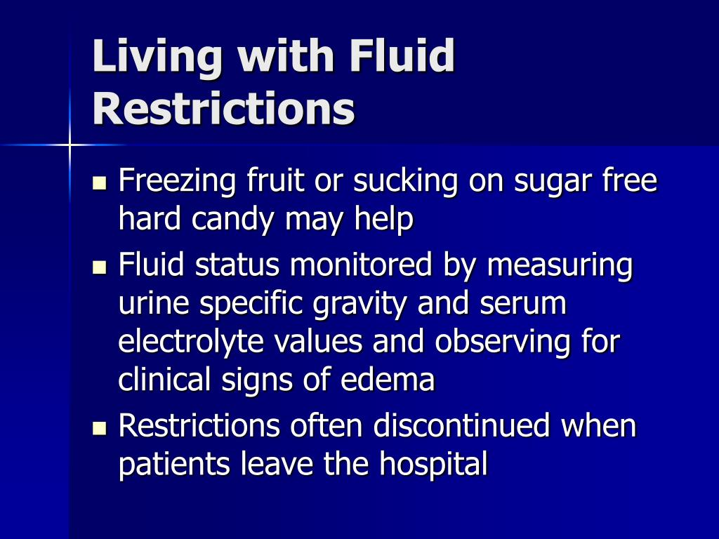 Living with Fluid Restrictions