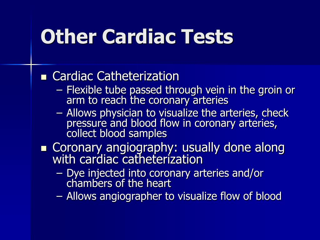 Other Cardiac Tests