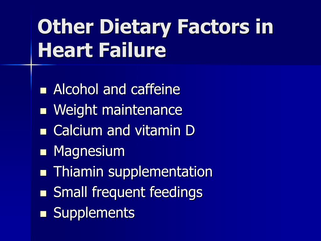 Other Dietary Factors in