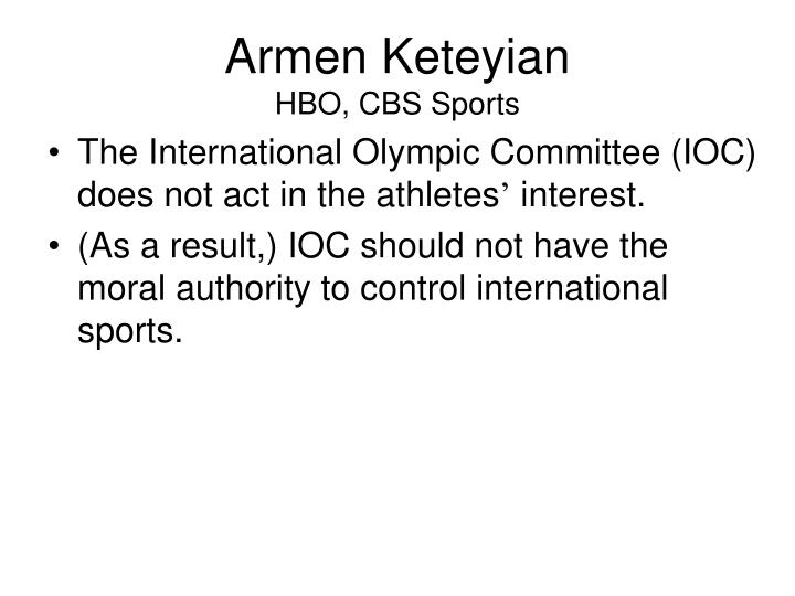 Armen keteyian hbo cbs sports
