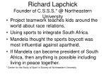 richard lapchick founder of c s s s @ northeastern university