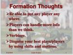 formation thoughts