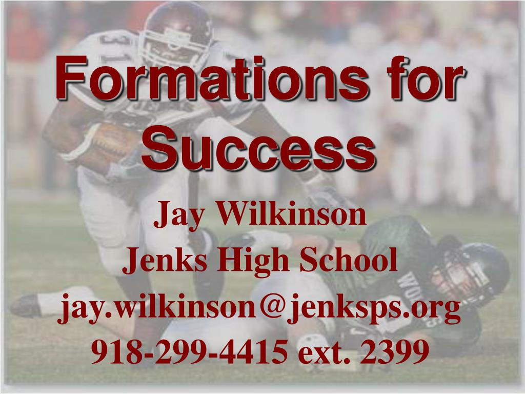 formations for success l.